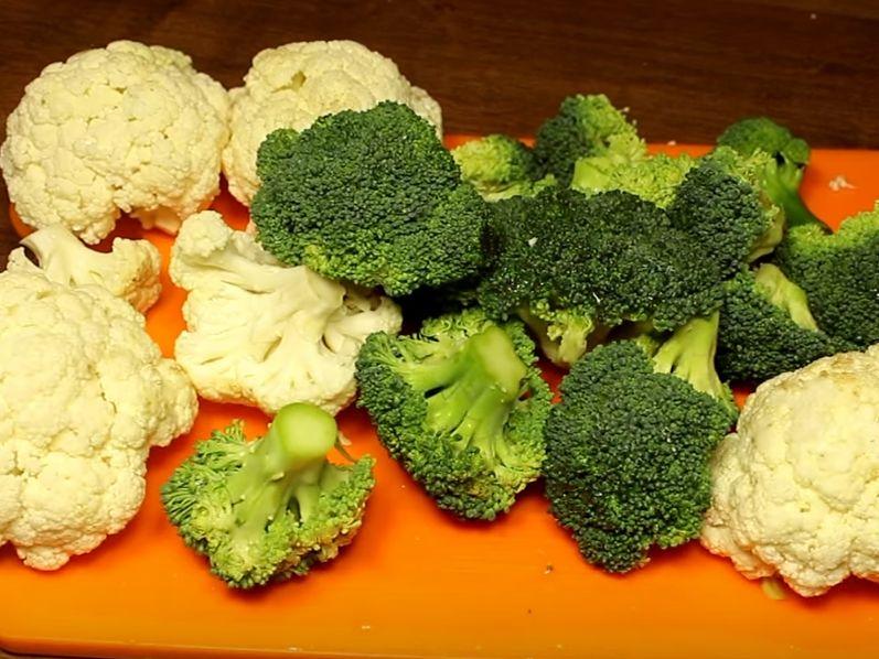 Как приготовить салат из цветной капусты или капусты брокколи про запас?